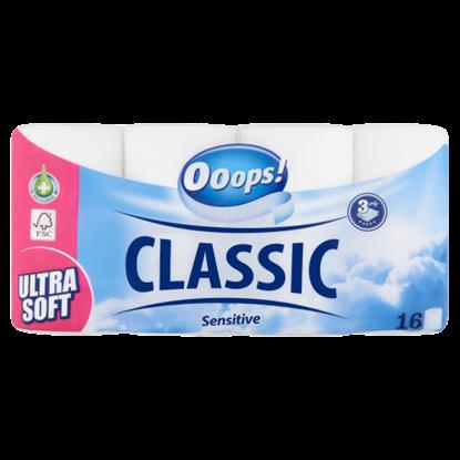 Kép Ooops! Classic Sensitive toalettpapír 3 rétegű 16 tekercs
