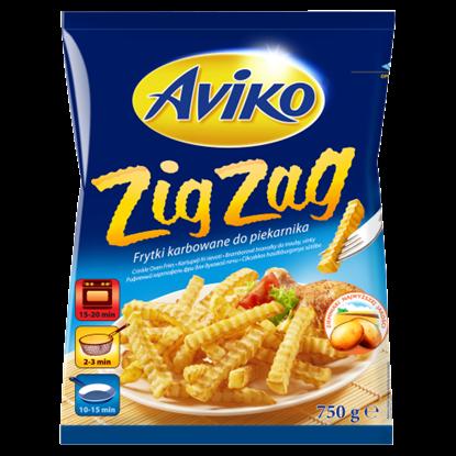 Kép Aviko Zig Zag elősütött és gyorsfagyasztott cikcakkos hasábburgonya sütőbe 750 g