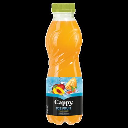Kép Cappy Ice Fruit Peach-Melon szénsavmentes alma-őszibarack-sárgadinnye ital citromfű ízzel 500 ml