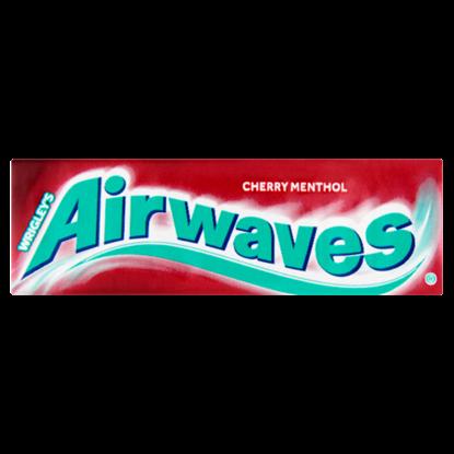 Kép Airwaves mentol- és cseresznye cukormentes rágógumi édesítőszerrel 10 db 14 g