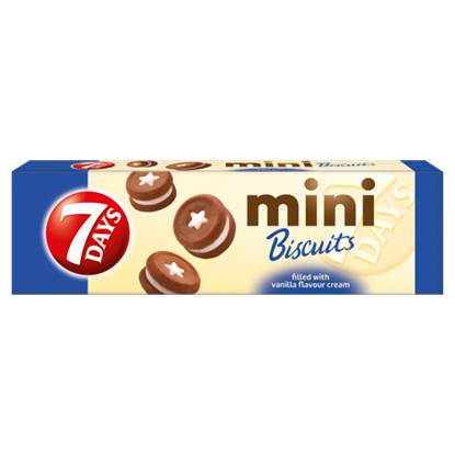Kép 7DAYS Mini Biscuits keksz vaníliás töltelékkel 100 g