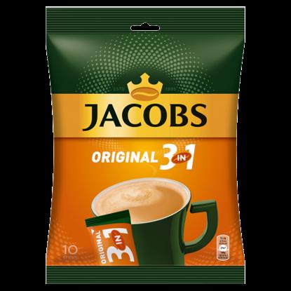 Kép Jacobs Original 3in1 azonnal oldódó kávéitalpor cukorral, kávéfehérítővel 10 db 152 g
