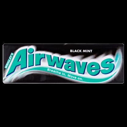 Kép Airwaves Black Mint mentol- és ánizsízű cukormentes rágógumi édesítőszerrel 14 g