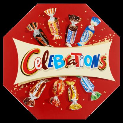 Kép Celebrations vegyes töltött, kekszes és ostyás tejcsokoládé 186 g