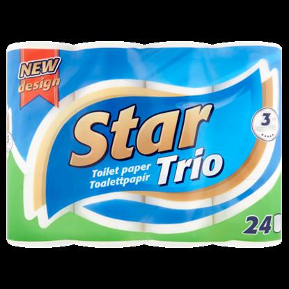 Kép Star Trio toalettpapír 3 rétegű 24 tekercs
