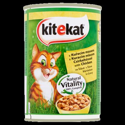 Kép Kitekat teljes értékű állateledel felnőtt macskák számára csirkehússal mártásban 400 g