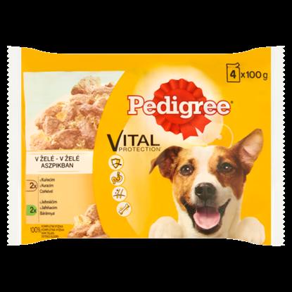 Kép Pedigree Vital Protection teljes értékű állateledel felnőtt kutyák számára aszpikban 4 x 100 g