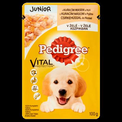 Kép Pedigree Vital Protection teljes értékű eledel kölyökkutyák számára csirkehússal aszpikban 100 g