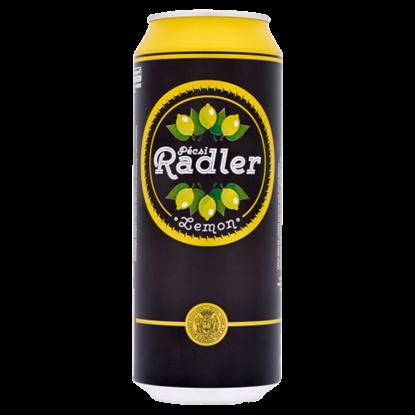 Kép Pécsi Radler világos sör és citrom ízű szénsavas üdítőital keverék 1,4% 0,5 l