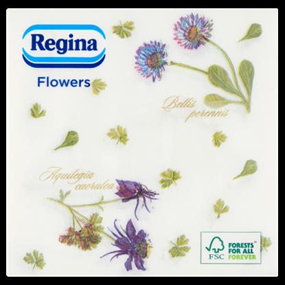 Kép Regina Flowers szalvéta 1 rétegű 33 x 33 cm 60 db