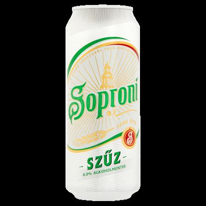 Kép Soproni Szűz alkoholmentes világos sör 0,5 l doboz