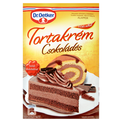 Kép Dr. Oetker Csokoládés Tortakrém alappor 145 g