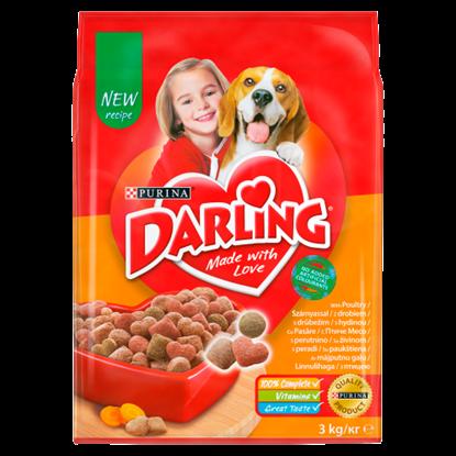 Kép Darling teljes értékű állateledel felnőtt kutyák számára szárnyassal 3 kg