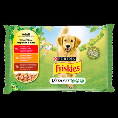 Kép Friskies Vitafit teljes értékű állateledel felnőtt kutyák számára aszpikban 4 x 100 g