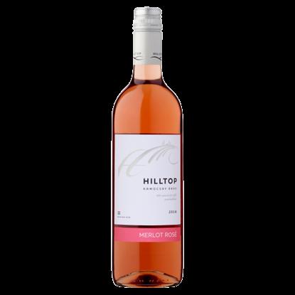 Kép Hilltop Dunántúli Merlot Rosé száraz rosébor 12% 75 cl