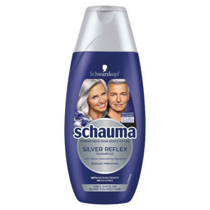 Kép Schauma Hamvas Csillogás sampon szőkített, ősz vagy fehér hajra 250 ml