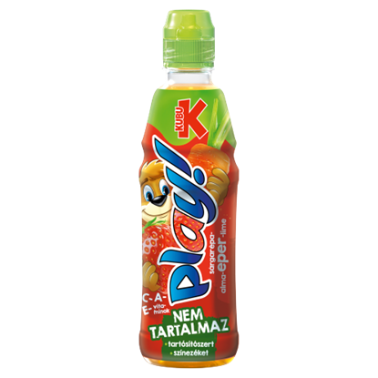 Kép Kubu Play! sárgarépa-alma-eper-lime ital 400 ml