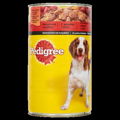 Kép Pedigree teljes értékű állateledel felnőtt kutyák számára marhahússal aszpikban 1200 g