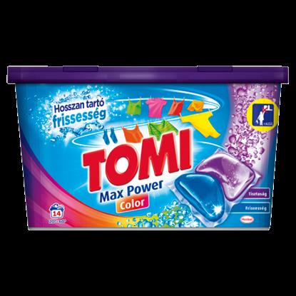 Kép Tomi Max Power Color kétkamrás mosókapszula gépi mosáshoz, színes ruhadarabokhoz 14 mosás 280 g