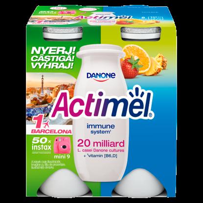 Kép Danone Actimel zsírszegény, élőflórás, vegyes gyümölcsízű joghurtital 4 x 100 g