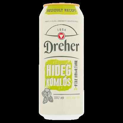 Kép Dreher Hidegkomlós világos sör 4,5% 0,5 l