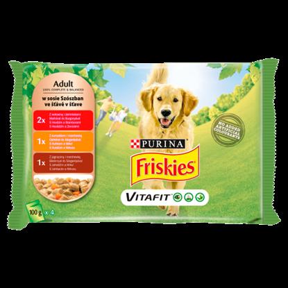 Kép Friskies Vitafit teljes értékű állateledel felnőtt kutyák számára 4 x 100 g