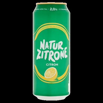 Kép Natur Zitrone citromos sörital 2% 0,5 l doboz