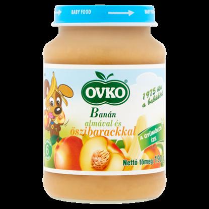 Kép Ovko banán almával és őszibarackkal bébidesszert 6 hónapos kortól 190 g