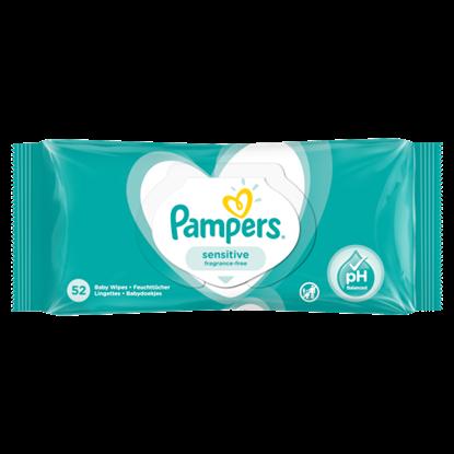 Kép Pampers Sensitive Nedves Törlőkendő, 1 Csomag = 52 db
