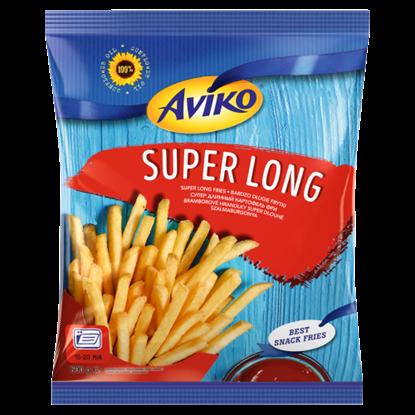 Kép Aviko Super Long elősütött és gyorsfagyasztott szalmaburgonya sütőbe 600 g