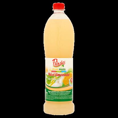 Kép Pölöskei citrom-menta házi limonádé cukorral és édesítőszerrel 1 l