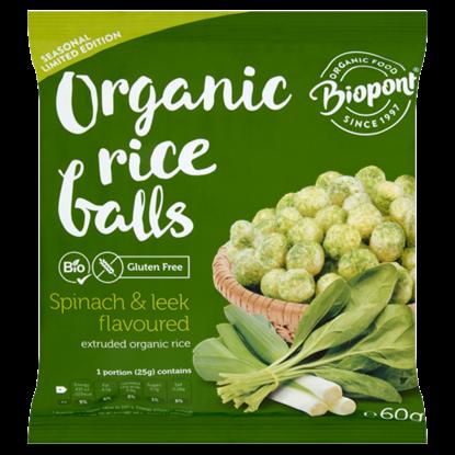 Kép Biopont BIO gluténmentes rizsgolyó spenóttal és póréhagymával 60 g