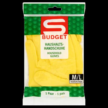Kép S-Budget háztartási gumikesztyű M/L méret