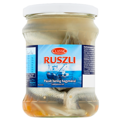Kép Classic Ruszli pácolt hering hagymával és édesítőszerrel 400 g