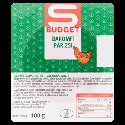 Kép S-Budget baromfi párizsi 100 g