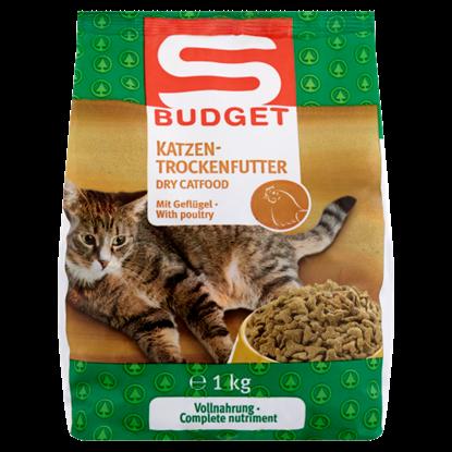 Kép S-Budget teljes értékű száraz állateledel felnőtt macskák számára baromfi ízesítéssel 1 kg