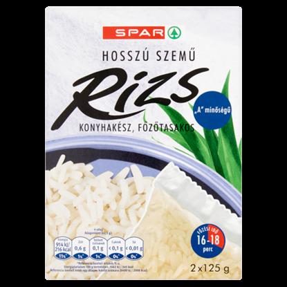 """Kép SPAR """"A"""" minőségű, hosszú szemű, konyhakész, főzőtasakos rizs 2 x 125 g"""