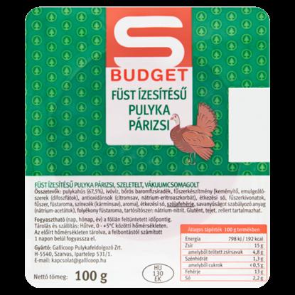 Kép S-Budget szeletelt füst ízesítésű pulyka párizsi 100 g