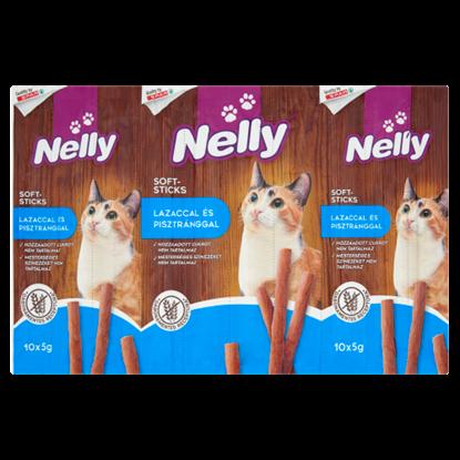 Kép Nelly Soft-Sticks pálcika alakú jutalomfalat lazaccal és pisztránggal macskák számára 10 db 50 g