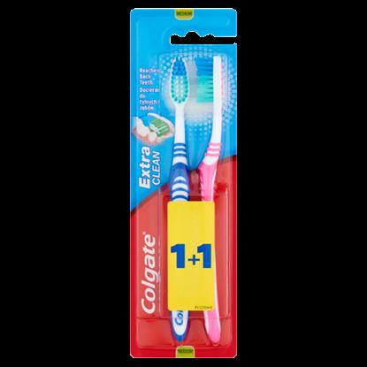 Kép Colgate Extra Clean közepes sörtéjű fogkefe 2 db