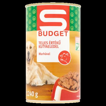 Kép S-Budget teljes értékű kutyaeledel marhával 1240 g