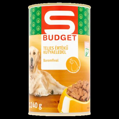 Kép S-Budget teljes értékű kutyaeledel baromfival 1240 g