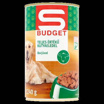 Kép S-Budget teljes értékű kutyaeledel borjúval 1240 g