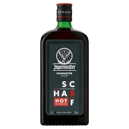 Kép Jägermeister Scharf gyógynövény likőr 33% 0,7 l