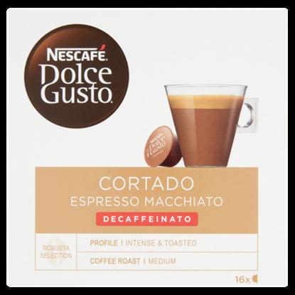 Kép NESCAFÉ Dolce Gusto Cortado Espresso Macchiato koffeinmentes kávékapszula 16 db/16 csésze 99,2 g