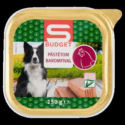 Kép S-Budget pástétom baromfival, teljes értékű állateledel felnőtt kutyák számára 150 g