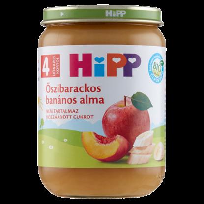 Kép HiPP BIO őszibarackos banános alma bébidesszert 4 hónapos kortól 190 g