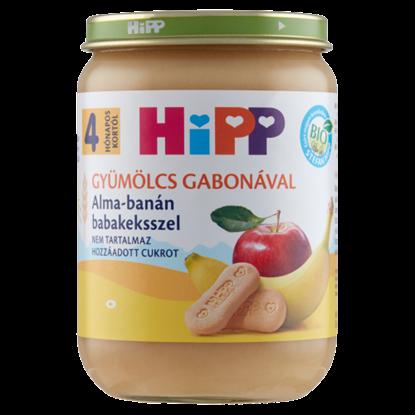Kép HiPP BIO alma-banán babakeksszel bébidesszert 4 hónapos kortól 190 g