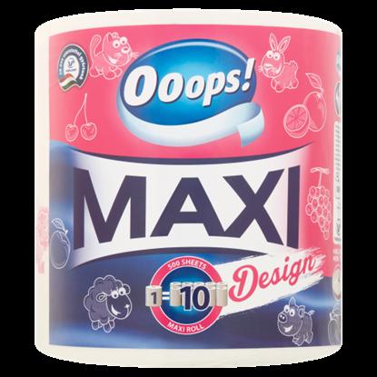 Kép Ooops! Maxi Design háztartási papírtörlő 2 rétegű 1 tekercs