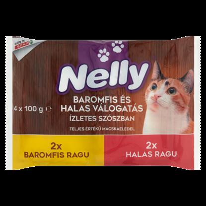 Kép Nelly Ragu Válogatás Baromfi-Hal Válogatás ízletes szószban teljes értékű macskaeledel 4 x 100 g